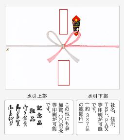 熨斗(のし)紙印刷について