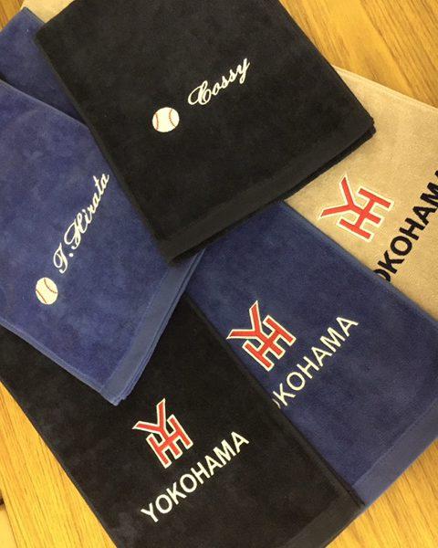 制作実例  スポーツタオルに刺繍 松竹タオル店