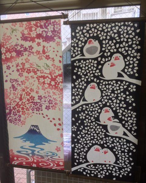 桜の季節の贈り物にタオルを