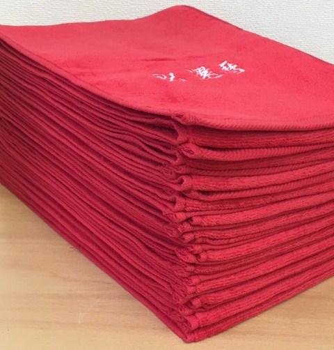 ご相談ください♪少ない枚数(30枚以上)でも制作可能 「タオルに刺繍」 制作実例 松竹タオル店