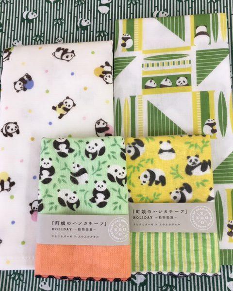パンダ柄のプチプレゼント 松竹タオル店
